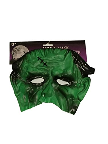 GB Halloween Frankenstein Half-face Mask Scary Child's Play Latex Realistic Crazy Rubber Creepy Party (Halloween Makeup For Men Half)