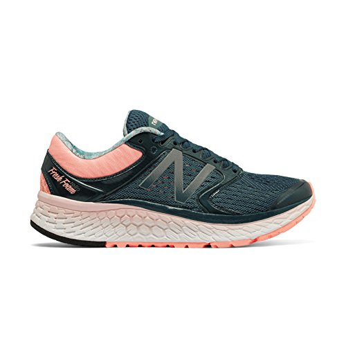 New Balance Women's Fresh Foam 1080v7 Running Shoe, Supercell/Sunrise, 7.5 D US by New Balance