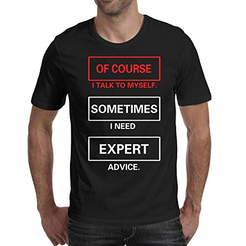MAVCUT Graphic t Shirt for Men Crazy Funny Dog Expert Advice Mens t Shirts Cotton Fashion t Shirts