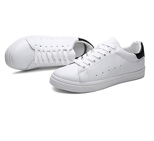 WZG zapatos respirables de los nuevos hombres zapatillas de deporte blancas de los estudiantes jóvenes hombres zapatos white black
