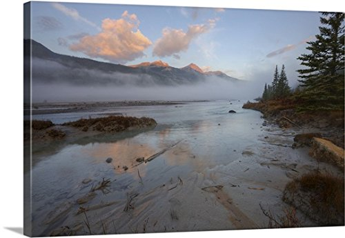 early-morning-on-sandy-banks-of-sunwapta-river-jasper-national-park-canada-gallery-wrapped-canvas