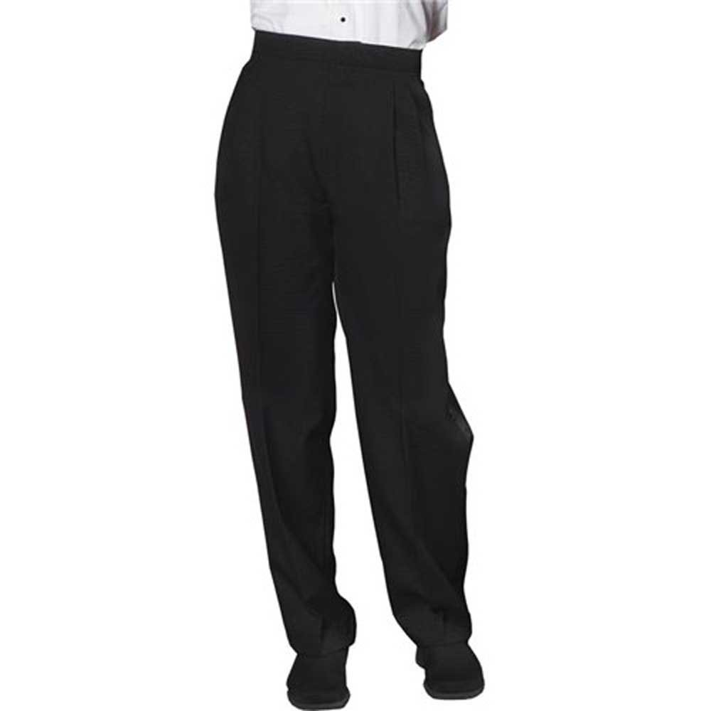SixStarUniforms Women Tuxedo Pleated Pants Black - Size (18)