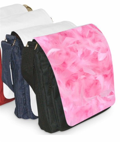 Klebespatz / Motiv Schultertasche Venedig rosa Federn