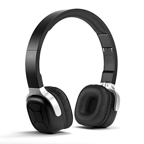 Lantoo Wireless Bluetooth 4.1 NFC Sport Over-Ear CVC 6.0 Noise Cancelling Headphones with Mic and Pedometer
