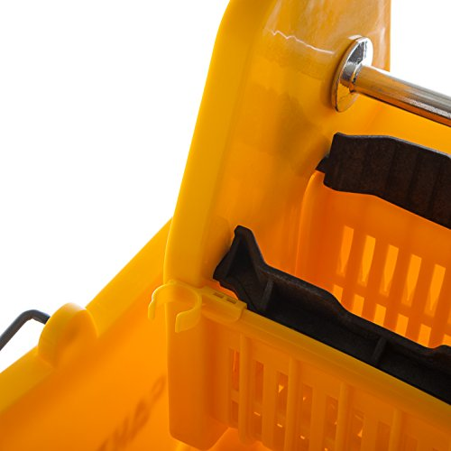 Carlisle 3690504 Commercial Mop Bucket With Down Press Wringer, 35 Quart Capacity, Yellow by Carlisle (Image #8)