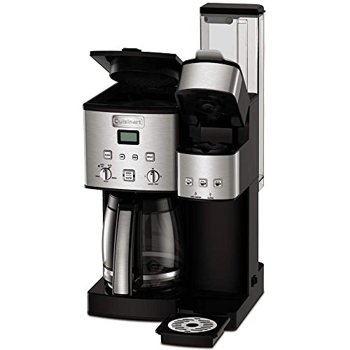 Cuisinart 12-Cup Coffee Maker and Single-Serve Brewer Stainless Steel (SS-15) with Milk Frother - Handheld Electric Foam Maker for Coffee, Latte, Cappuccino & Stainless Steel Milk Frothing Pitcher by Cuisinart (Image #2)