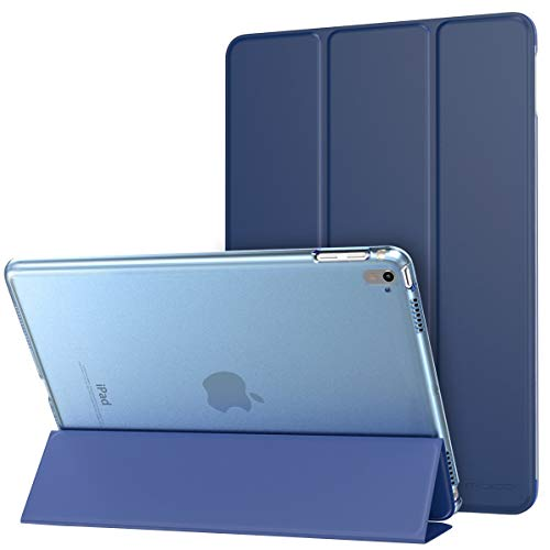 MoKo Case Fit iPad Pro 9.7 - Slim Lightweight Smart Shell Stand Cover with Translucent Frosted Back Protector Fit Apple iPad Pro 9.7 Inch 2016 Release Tablet ONLY, Navy Blue(with Auto Wake/Sleep)