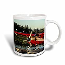 3drose Float Plane, Anchorage, Alaska, Usa Us02 Gre0178 Gerry Reynolds Ceramic Mug, 11 Oz, White