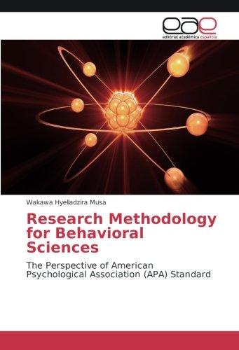 Research Methodology for Behavioral Sciences: The Perspective of American Psychological Association (APA) Standard (Spanish Edition) [Wakawa Hyelladzira  Musa] (Tapa Blanda)