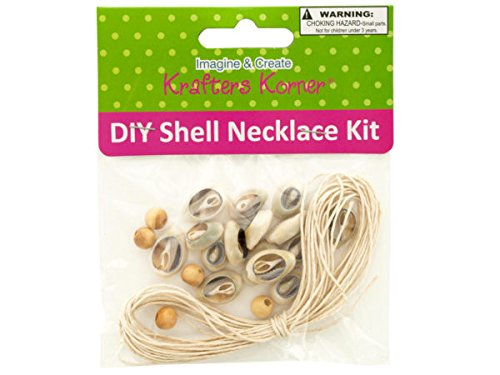 DIY Craft Shell Necklace Kit - Pack of 18