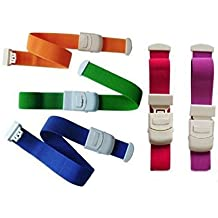 Wanty 5 Pack Quick Release Tourniquet Bands Elastic Belt Medical Buckle Hemostatic Blood Tourniquet with Buckle at Home, Outdoors, Sports,Car, Camping, Workplace, Hiking & Survival