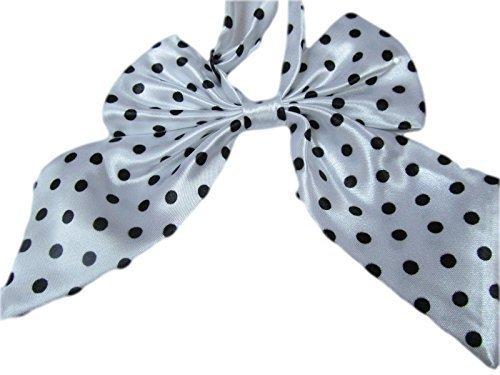 Cravate filles copie Cravate Pointill catz Blanc Cravate Couleurs n lopard Femmes ud mode satin femmes pointill rayures fat pour catz par et 15 pour dguisement en fte zdpqz