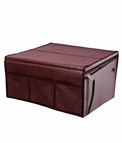 Kuber Industries Rexene Decorative Fridge Top Cover - Maroon