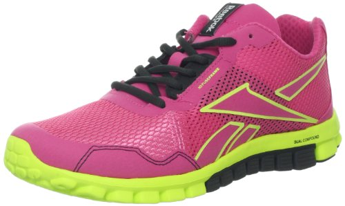 Reebok Women's Real Flex Run 2.0 EX Running Shoe,Optimal Pink/Neon Yellow/Gravel,9 M US Review