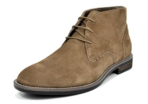 BRUNO MARC MODA ITALY URBAN Men's Classic Lace Up Original Suede Leather Midsole stripe Desert Wind boots