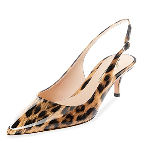 c48035dfe3a ... Pointed Toe Slingback Ankle Strap Kitten Heels Pumps Evening Stiletto  Shoes 6.5CM Brown Leopard. Product 14192 25864. prev · Product List · next.  Model  ...