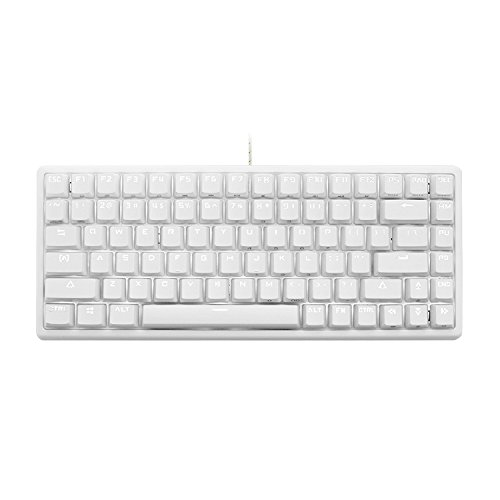 DREVO 84 Keys Gramr Wired Gaming Mechanical Keyboard with Backlit Edition Red Switch (White)