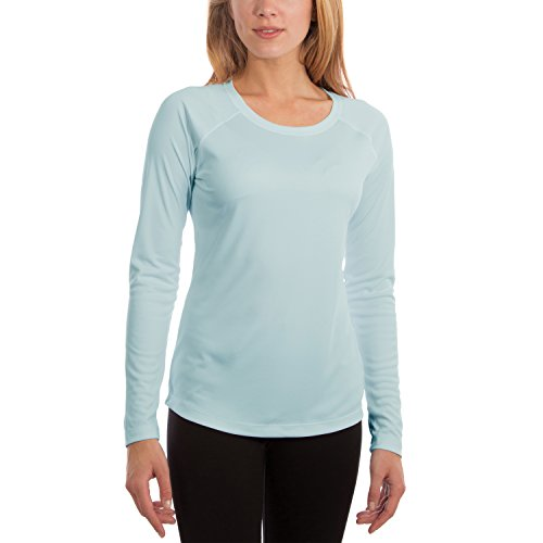 Vapor Apparel Women's UPF 50+ UV/Sun Protection Long Sleeve T-Shirt Large Arctic Blue