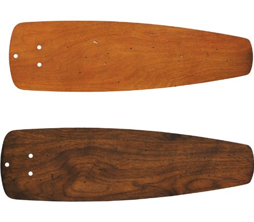 Kichler 371036 Accessory 52-Inch Reversible Solid Wood Ceiling Fan Wedge Blade Set, Distressed Walnut/Distressed Cherry
