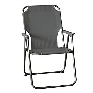 Silla de camping, poliéster tela en Stone, 68x 53x 6cm/silla plegable silla de playa camping Silla plegable Silla de jardín silla plegable
