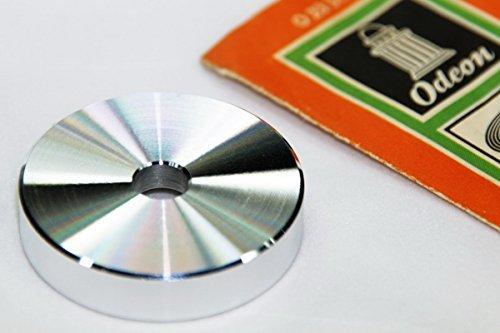 Single Schallplatten Puck musictools, sehr leichtes DJ Plattenspieler Mittelstück aus Aluminium