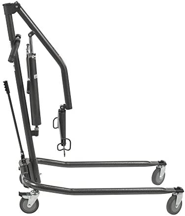 Drive Medical Hydraulic Patient Lift | Six Point Cradle, 5-Inch Casters | Silver Vein 41HuSiPwIiL