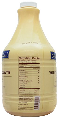 Ghirardelli White Chocolate Flavored Sauce 89.4 Ounce with Ghirardelli Pump and Spoon by By The Cup (Image #2)