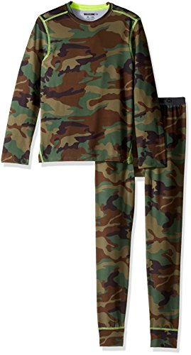Wolverine Big Boys' Performance Baselayer Set, Deep Green Camo, 7/8 Boys Camo Thermal