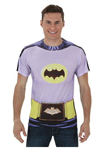 [Batman Classic TV - Batman Costume (Front/Back Print) T-Shirt Size S] (Classic Batman Costumes)