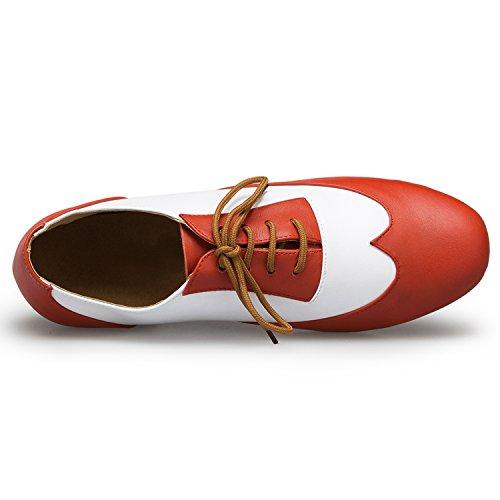 Miyoopark ,  Herren Tanzschuhe Orange-4.5cm heel