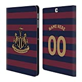 Custom Customized Personalized Newcastle United FC NUFC Away Kit 2018/19 Crest Leather Book Wallet Case Cover for Samsung Galaxy Tab S2 9.7