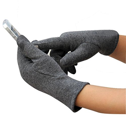 Guantes calientes para Mujeres,Ouneed ® Deporte al aire libre de moda para mujer invierno mantenga cálido guantes de conducción Gris
