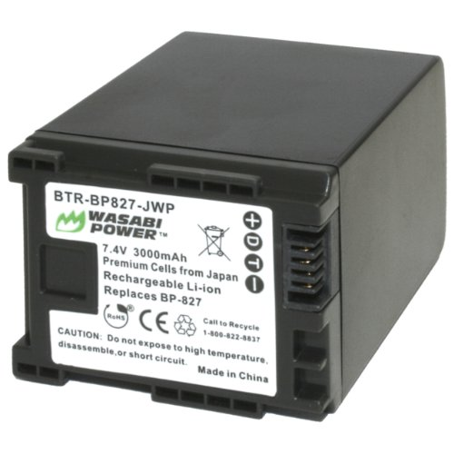 Wasabi Power Battery and Charger for Canon BP-827