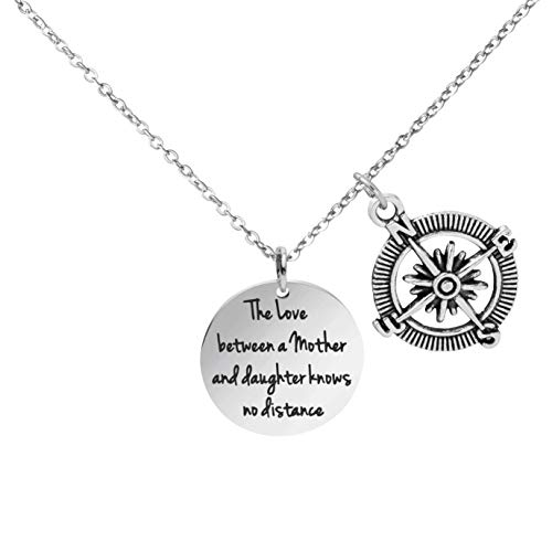 Awegift Mother Necklace The Love Between a Mother and Daughter Knows no Distance Jewelry Gift