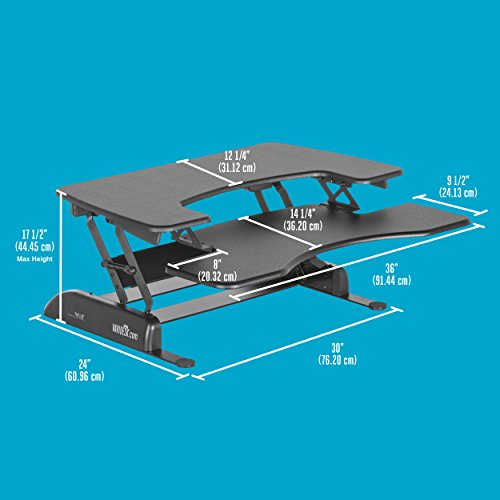 Height-Adjustable Standing Desk - VARIDESK Pro Plus 36 - Black