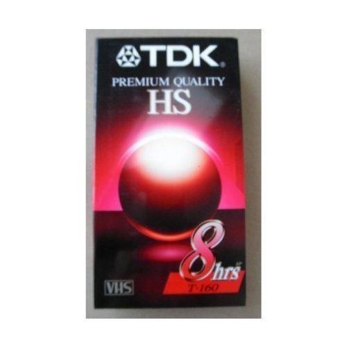 Vhs Tdk T-160 (TDK Premium Quality HS T-160 8 Hour EP Video Cassette Tape - Ideal for everyday recording and playback of your favorite programs - High quality performance, even under repeated use)