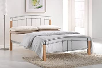 5ft king size tetras metal bed frame by total furnishing