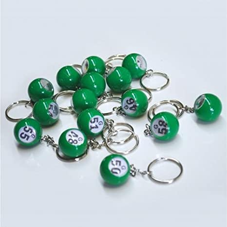 Amazon.com: BINGO bola llavero Set, Verde: Office Products