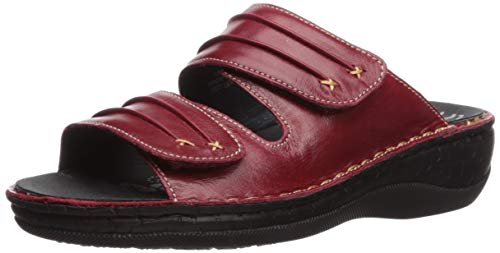 Propet Women's June Sandal red 9.5 2E US (Removable Footbed)