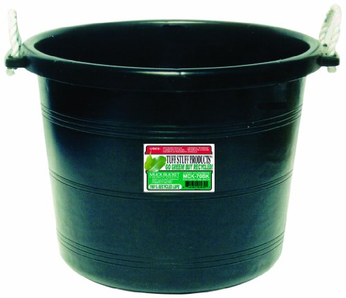 Tuff Stuff Products MCK70BK Muck Bucket, 70-Quart, Black