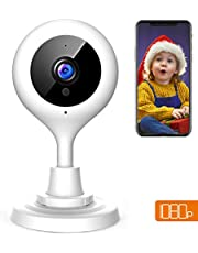 【NEW VERSION】APEMAN 1080P WiFi Camera Home Security Surveillance Indoor Camera CCTV Wireless IP Camera Baby/Elder/Pet Remote Monitor with Night Vision Motion Detection Two Way Audio Pan/Tilt/Zoom