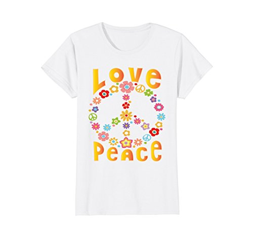 EEDOM T-Shirt 60s 70s Tie Dye Hippie Shirt Medium White (Hippie Tie Dye Shirts)