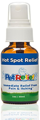 Hot Spots For Dogs, Safe & Natural Hot Spot Treatment For Dogs,! 30ml Best Itchy Dog Anti Itch Relief Spray, Better Than Medicine, No Side Effects! Made In USA By Pet Relief