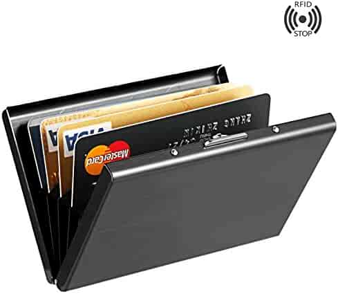 Stainless Steel RFID Credit Card Holder Credit Card Wallet Protector RFID Metal Credit Card Case for Women or Men