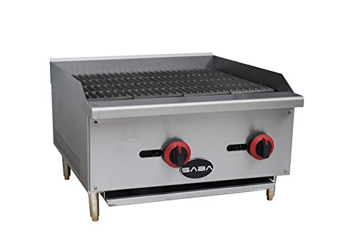 BLACK FRIDAY SPECIAL!! SABA Heavy Duty Stainless Steel 4'' Gas Radiant Broiler / Commercial Charbroiler by SABA Restaurant Utopia