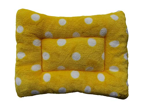 WOWOWMEOW Guinea-Pigs Warm Bed Mat Small Animals Cage Cozy Bed Blanket for Bunny, Hamster, Squirrel, Hedgehog, and Chinchilla (Yellow)