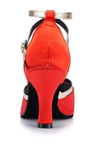 5cm Zapatos 7 de Heel TDA mujer Red tacón 17Oqv
