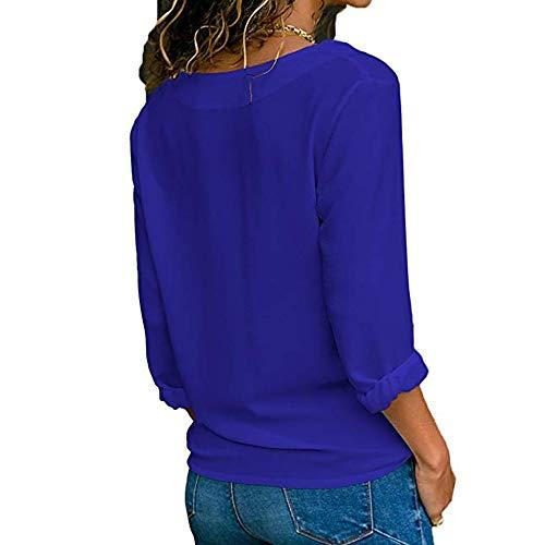 Pullover Manica Lunga Weant Sexy Maglia Magliette Scollo Felpa Top Moda B191 Tumblr Shirt Giacca Blusa Donna T Elegante Cappuccio Camicia Bottone V awqZrTaFA
