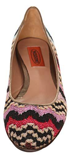 Zapatos Para Mujer Sm08 b Vestir De B Tela Missoni Nero Fuxia Bordeaux tqHOZa
