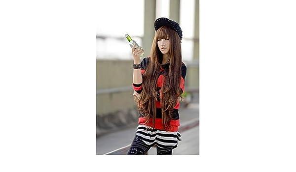 Fashion wigstyle Europea y americana moda largo rizado peluca Fluffy Amazon Ebay venta modelos: Amazon.es: Belleza